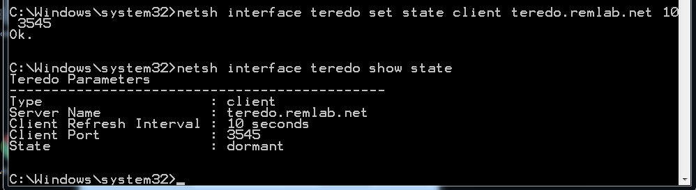 your machine administrator has disabled teredo
